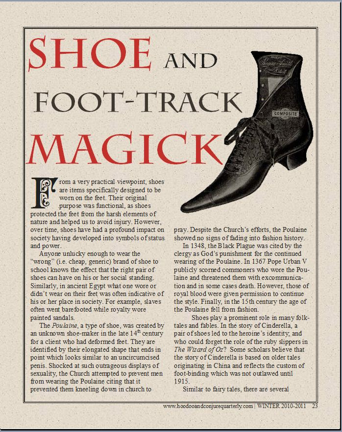 Foot Track Magic Shoe And Foot Track Magick by