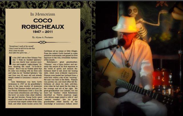 In Memorium: Coco Robicheaux. Copyright 2013 Alyne Pustanio